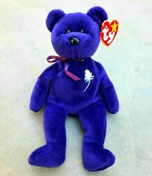 Ty Beanie Baby Princess Diana Bear 1st Edition Ghost Version 1997 - Most Rare