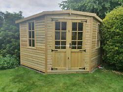 Corner Summerhouse Shed Man Cave Garden Room Summer House Fitted See Below