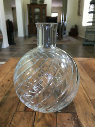 Baccarat Crystal Cyclades Swirl Vase Decanter Pitcher France 7.25 Mint