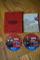 Red Dead Redemption Ii 2 Steelbook Sony Playstation 4 Ps4 Complete W/ Map