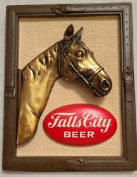 Rare Vintage 1970 Fall City Beer Wall Sign 3d