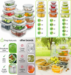 Glass Storage Containers With Lids 13-pack - Food Clear