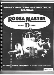 Roosa Master D Injection Injector Pump Service Manual