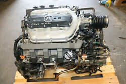 2012-2014 Acura Tl 3.5l J35z6 V6 Engine And Mmga Automatic Transmission