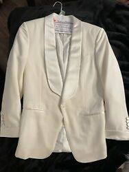 Tom Ford White Mohair Oand039connor Shawl Collar Cocktail Evening Jacket Us 40r