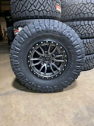 5 17x9 Fuel D680 Rebel Gray Wheels 35 Nitto At Tires 5x5 Jeep Gladiator Jt