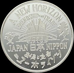 1975 Aflac Silver - 20th Anniversary Japan Friendship And Trade Rare