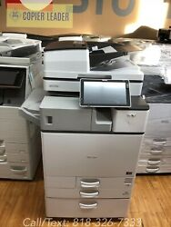Ricoh Mpc 3504ex -25k Meter Only- Copier Print Scanner Fax Mfp Finisher Included