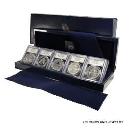 5pc Silver American Eagle 25th Anniversary Set, Pcgs All Proof 70 And Ms70