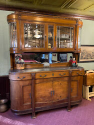 Antique Breakfront / Buffet / China Cabinet