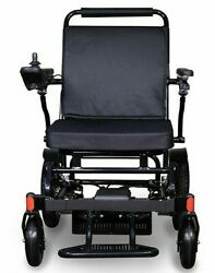 Foldable Lightweight Portable Electric Power Wheelchair Mobility Travel Black