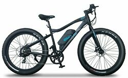 750w Fat Tire Electric Mountain Bike Lcd Display 7-speed Disc Brakes 2 Colors