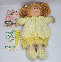 Cabbage Patch Kid Vintage Doll 1978 1982 Baby Girl Blonde Hair Blue Eyes Dimples