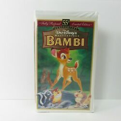 Bambi Vhs 55th Anniversary Limited Edition Masterpiece Collection Rare 9505 '97