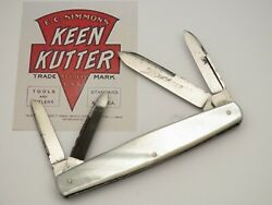 Antique Keen Kutter Ec Simmons Four-blade Pearl Amazing File Work