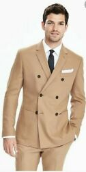 Banana Republic Menand039s Camel Wool/cashmere Double Breasted Suit Separates 42r