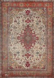 Semi-antique Geometric Oriental Traditional Area Rug Hand-knotted Wool 7x10 Ft