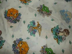 4g Vintage Disney The Land Before Time Twin Fitted Bed Sheet {fabric} Dinosaurs