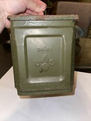 Vintage Military Palley Ammunition Box Ammo Cal 50m2 Linked Us Flaming Bomb Wwii