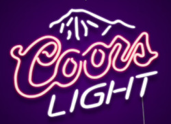 17coors Light Neon Signs Beer Cave Real Glass Handmade Sign Shipping From Us