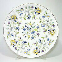Minton Made In England Haddon Hall Blue Gold 27cm Service Bowl