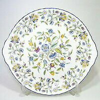 Minton Made In England Haddon Hall Blue 31cm And Plate
