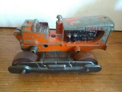 Antique Hubley Cast Farm Tractor Vehicle Machinery Wood Wheels