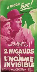 Abbott And Costello Meet The Invisible Man 1951 Charles Lamont French Presse Book