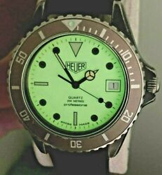 For Serious Collectors Rare Original Heuer Military Night Diver Watch 981.113