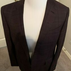 2695 Jacket Hand Made In Italy Wool Us 42 R Eu 52 R