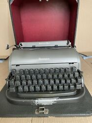 Remington All New At Portable Typewriter Clean Serviced New Ribbon W/case