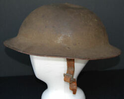 Original Wwi Us Army Doughboy Steel Helmet With Chinstrap And Oilcloth Liner 7 1/8