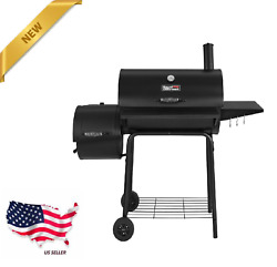 Charcoal Grill Bbq Barbecue Cooker Offset Smoker 800 Sq In Outdoor Pit Patio New