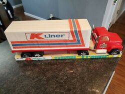 Vintage Nos Kmart Semi Truck Gay Toys Inc Made In Usa Plastic Big Rig Tractor