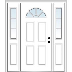 National Door Company Zz05460l Smooth, Brilliant White, Left Hand Inswing, Front