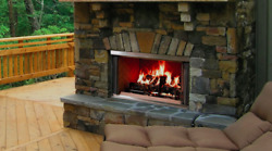 Montana 36 Outdoor Wood Burning Fireplace Traditional Brick Free Shipping