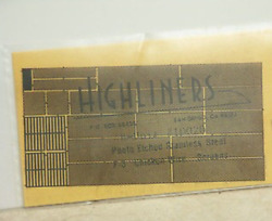 Highliners Ho 10020 Wire Screening Photo-etched For F-3 - Details Below