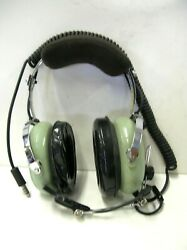 David Clark H10-76 Pilot Aviation Headset With Mic Untested