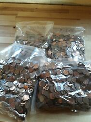 Lincoln Memorial Pennies 37.7 Pounds Unsearched 1959-1982 95 Copper