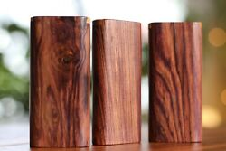 4 Honduras Wood Dugout With One Hitter- Slider Lid- Perfect Gift