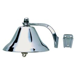 Perko 0159dp8chr Chrome Plated Brass 8 Marine Boat Ships Bell With Hanger