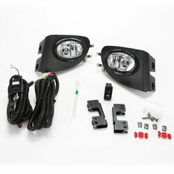 Fit 2002-2005 Civic Si Hatchback 3dr Clear Fog Lights With Bezel Switch Wire Ep3