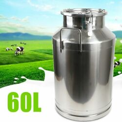Stainless Steel 60l Milk Can Juice Liquid Container Embedded Silicone Seal