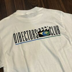 Vintage 90s Mgm Grand Entertainment Directors Club White Size Large Movie Promo