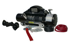 Electric Winch 10,000 Lb 4536kg 12 Volt W/synthetic Rope Black Satin Finish Sr