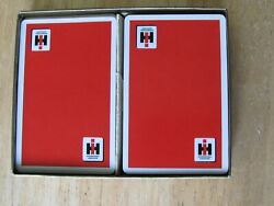 VINTAGE INTERNATIONAL HARVESTER IHC COMPLIMENTS YOUR DEALER PLAYING CARDS W BOX $24.00