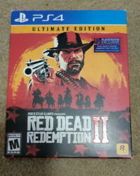 Red Dead Redemption 2 Ultimate Edition Ps4 Steelbook Map Rare