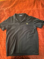 Fred Perry Mens Polo Shirt Black Size 42 $34.95