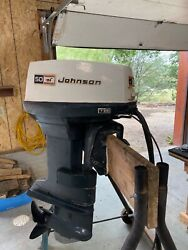 50 Hp Johnson Electric Start Electric Shift 20 Inch Shaft With Controller.