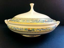 Rare New Lenox China Autumn Round Covered Serving Bowl Vegetable Dish